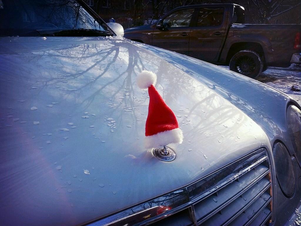 Mercedes Santa Hat