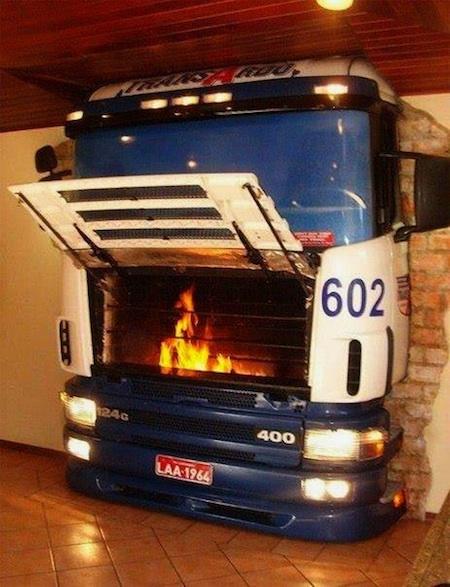 Truck Fireplace